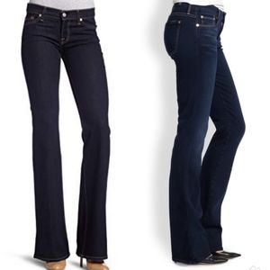 7 For All Mankind | The Skinny Bootcut Dark Jeans